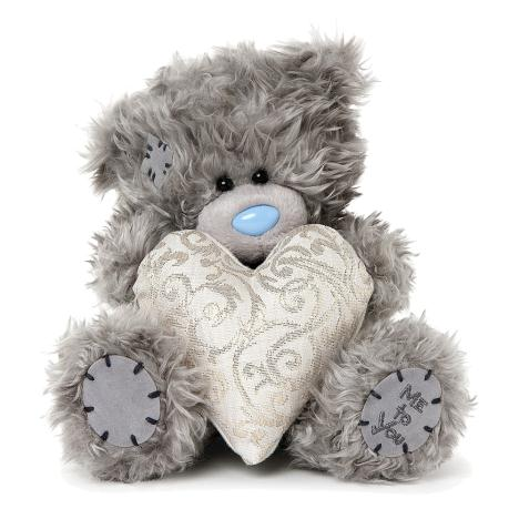 "7"" Patterned Padded Heart Me to You Bear   £9.99"