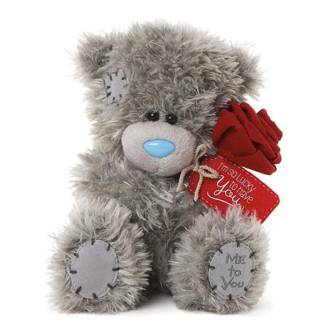 "7"" So Lucky To Have You Me to You Bear Holding Rose  £10.00"