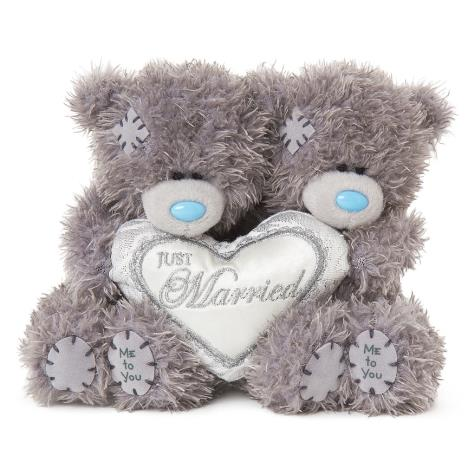 "2 x 4"" Just Married Padded Heart Me to You Wedding Bears  £11.99"