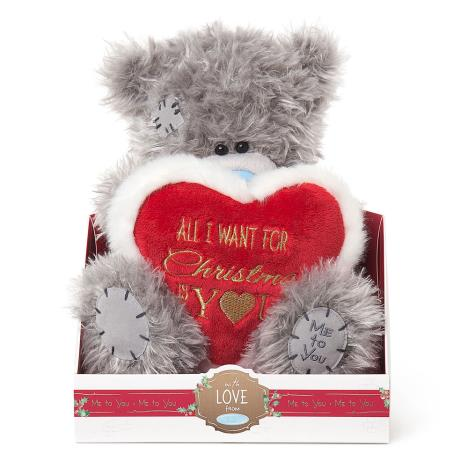 "9"" All I Want For Christmas Heart Me To You Bear  £20.00"