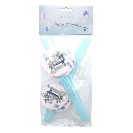 My Blue Nose Friends Party Straws Pack of 8 Pack of 8 £1.49