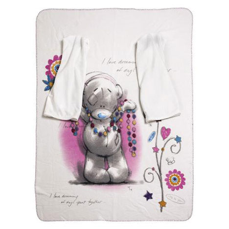 Me to You Bear Sketchbook Blanket with Arms   £14.99
