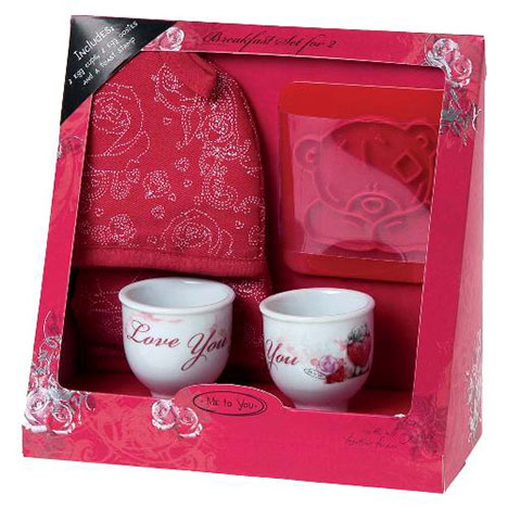 Me to You Bear Love Breakfast Set for 2  £8.99
