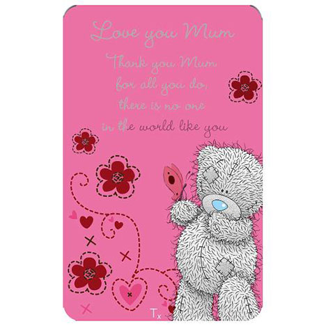 Thank You Mum Me to You Bear Message Card  £1.25
