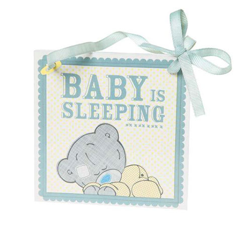 Tiny Tatty Teddy Baby is Sleeping Wall Plaque  £3.50