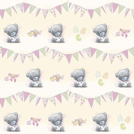 Baby Girl Me to You Bear Gift Wrap & Tags Set  £1.00