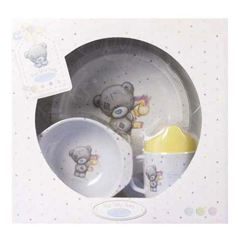 Tiny Tatty Me to You Bear Baby Plate, Cup and Bowl Gift Set   £12.99