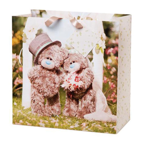 Large Photo Finish Me to You Bear Wedding Gift Bag   £3.00