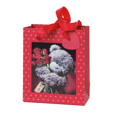 Small 3D Holographic Red Roses Me to You Bear Gift Bag   £2.99