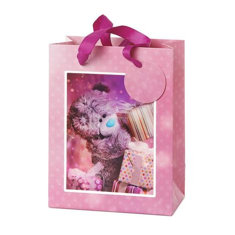 Small 3D Holographic With Presents Me to You Bear Gift Bag   £2.99
