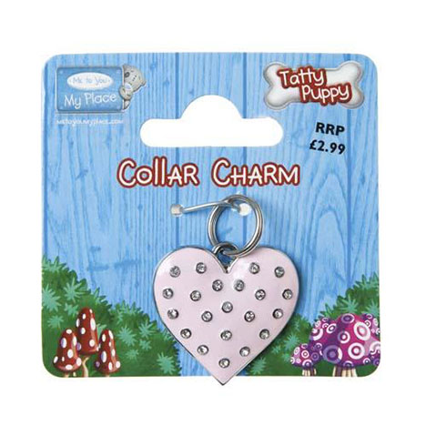 Tatty Puppy Me to You Bear Pink Heart Collar Charm  £2.99