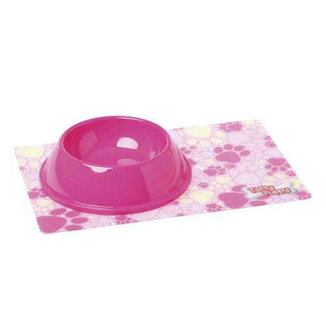 Tatty Puppy Me to You Bear Pink Mat and Bowl Set  £4.99