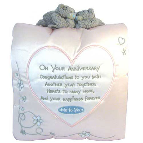Me to You Bear Anniversary Message Cushion   £13.99