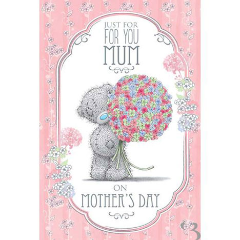 Mum Just For You Me to You Bear Mothers Day Card  £3.59