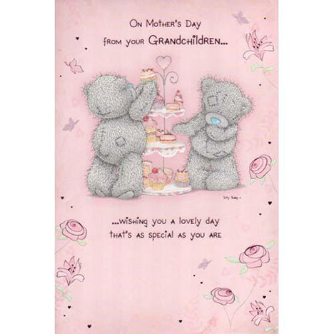 From Your Grandchildren Me to You Bear Mothers Day Card  £2.40