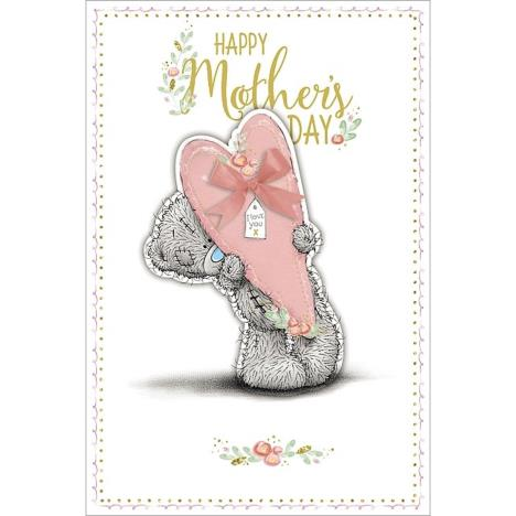Holding Pink Heart Me to You Bear Mothers Day Card  £3.99