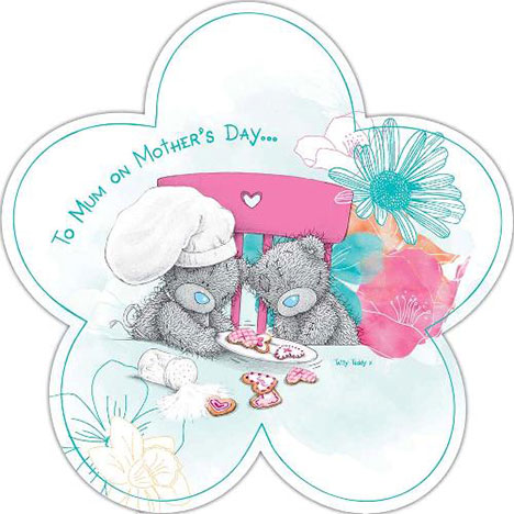 To Mum Me to You Bear Flower Shaped Card  £2.09