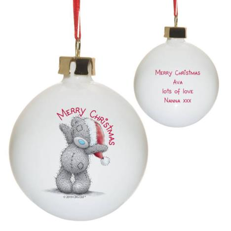 Personalised Me to You Merry Christmas Bauble  £12.99