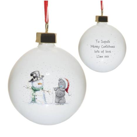 Personalised Me to You Tatty & Snowman Christmas Bauble  £12.99