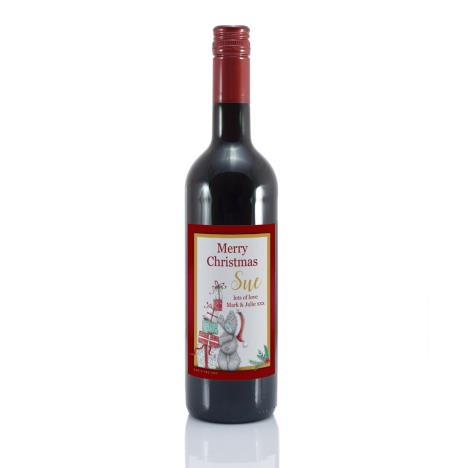 Personalised Me to You Christmas Presents Red Wine  £20.00