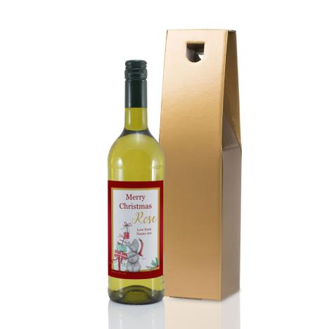 Personalised Me to You Christmas Presents White Wine  £20.00