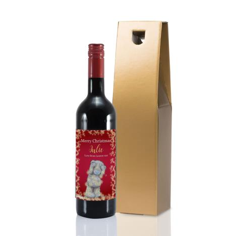 Personalised Me to You Wrapped Up In Lights Red Wine  £20.00