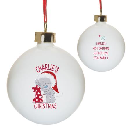 Personalised Me to You 1st Christmas Bauble  £12.99
