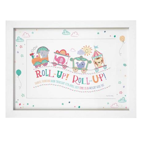 Personalised Tiny Tatty Teddy Little Circus Roll Up A4 Framed Print  £19.99