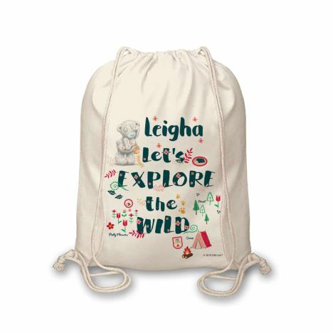 Personalised Me to You Let's Explore the Wild Drawstring Bag  £12.99