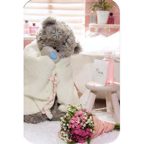 Bear in Bath Towel Mothers Day Me to You Bear Card  £2.40