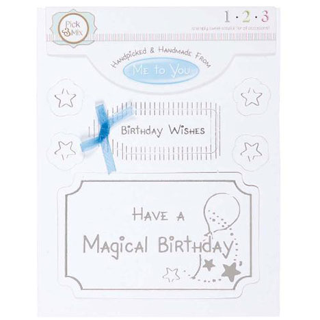 Magical Birthday Occasions Verse & Greeting Insert  £1.00