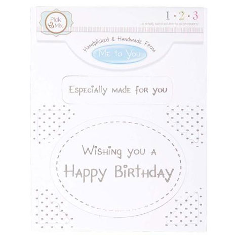 Happy Birthday Occasions Verse & Greeting Insert  £1.00