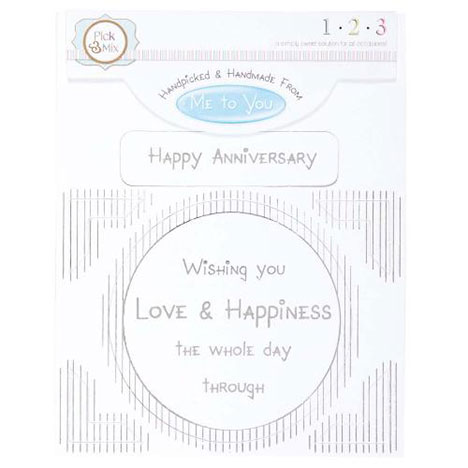 Happy Anniversary Occasions Verse & Greeting Insert  £1.00