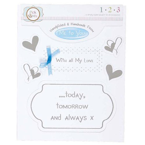 With All My Love Occasions Verse & Greeting Insert  £1.00