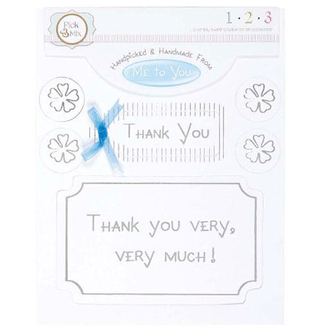 Thank You Occasions Verse & Greeting Insert  £1.00
