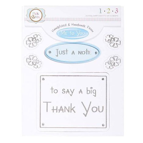A Big Thank You Occasions Verse & Greeting Insert  £1.00
