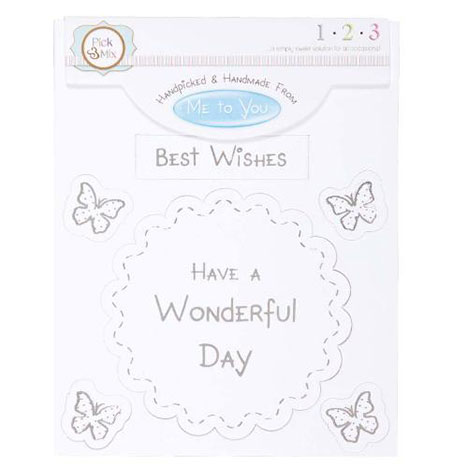 Best Wishes Occasions Verse & Greeting Insert  £1.00