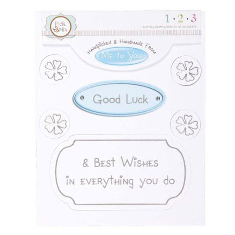 Good Luck Occasions Verse & Greeting Insert  £1.00