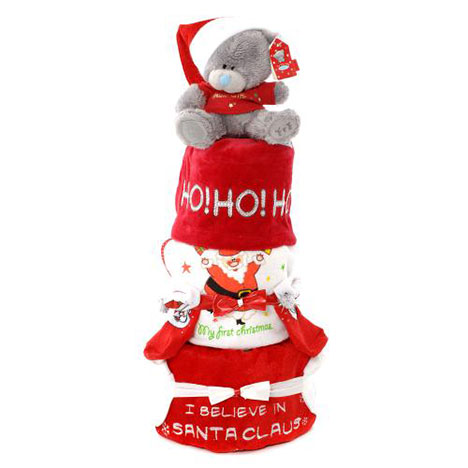 3 Tier Baby Boy Christmas Me to You Bear Nappy Cake (3-6 Months)  £29.99