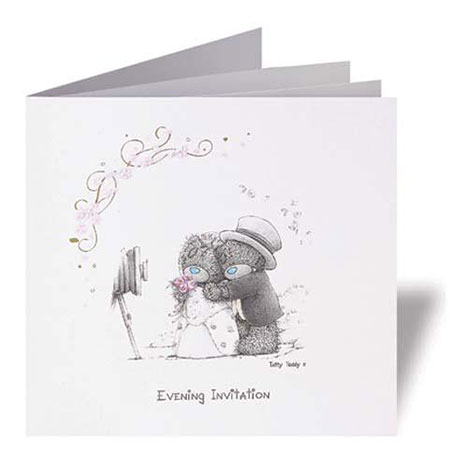 Me to You Bear Personalised Evening Wedding Invitations Per 20 Per 20 £64.99