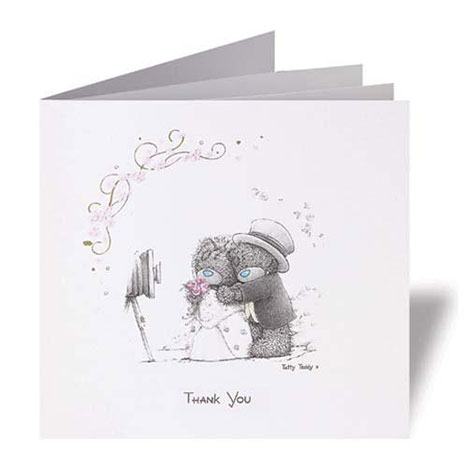 Me to You Bear Personalised Thank You Cards Per 20 Per 20 £54.99