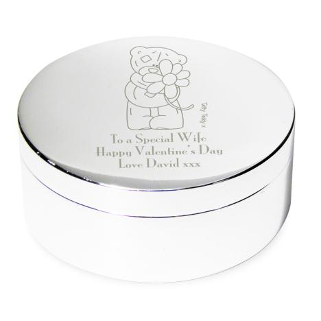 Personalised Me to You Bear Flower Round Trinket Box  £15.99