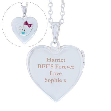 Personalised Message Me to You Silver Tone Heart Locket  £19.99