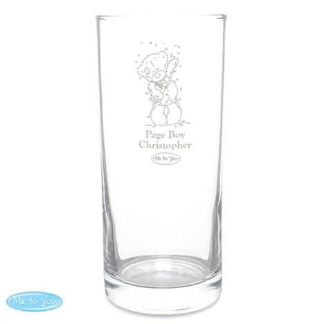 Personalised Me to You Engraved Wedding Boy Hi Ball Glass  £11.99