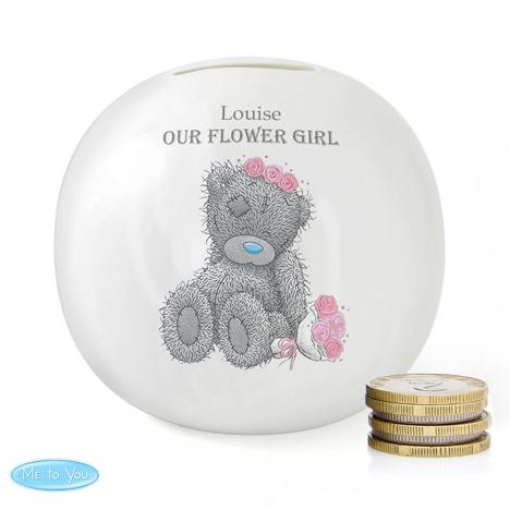 Personalised Me to You Flower Girl Bridesmaid Wedding Money Jar  £15.99