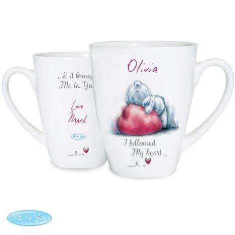 Personalised Me to You Bear Heart Latte Mug  £10.99