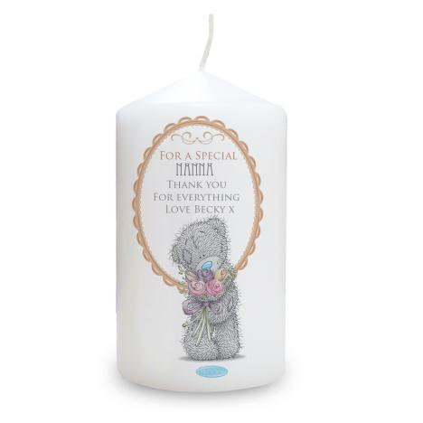 Personalised Me To You Bear Flowers Candle   £10.99