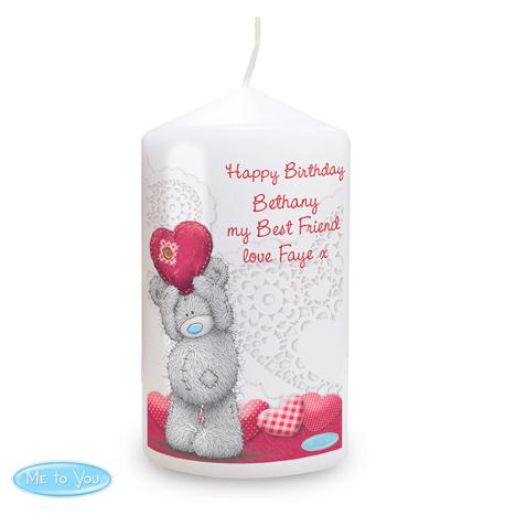 Personalised Me to You Bear Heart Candle  £10.99