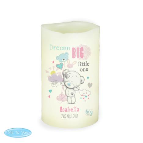 Personalised Tiny Tatty Teddy Dream Big Pink Nightlight LED Candle  £10.99