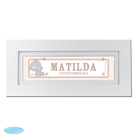 Personalised Tiny Tatty Teddy Me to You Bear Name Frame  £19.99